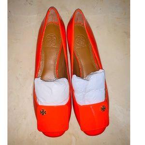 NWOT Tory Burch Hotrod Orange Leather Loafers